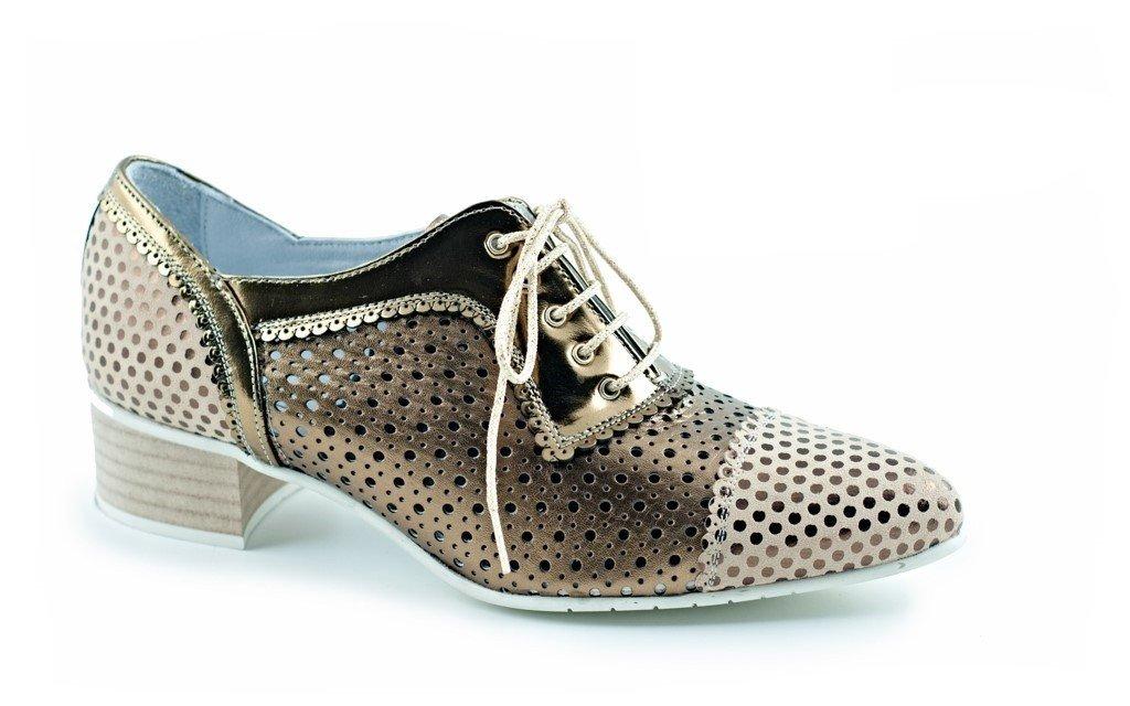 Makaral. Zapato marrón Plano de Piel con Cordones para Mujer 43 EU Marrón