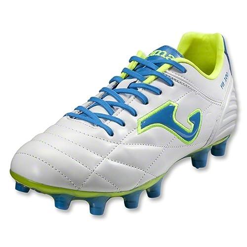 Joma Bota Multitaco Tierra Fútbol FIT-100 blanco 10.5: Amazon.es: Zapatos y complementos