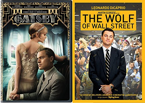 The Wolf of Wall Street & The Great Gatsby DVD 2 Pack Leonardo DiCaprio Double Feature Movie Set