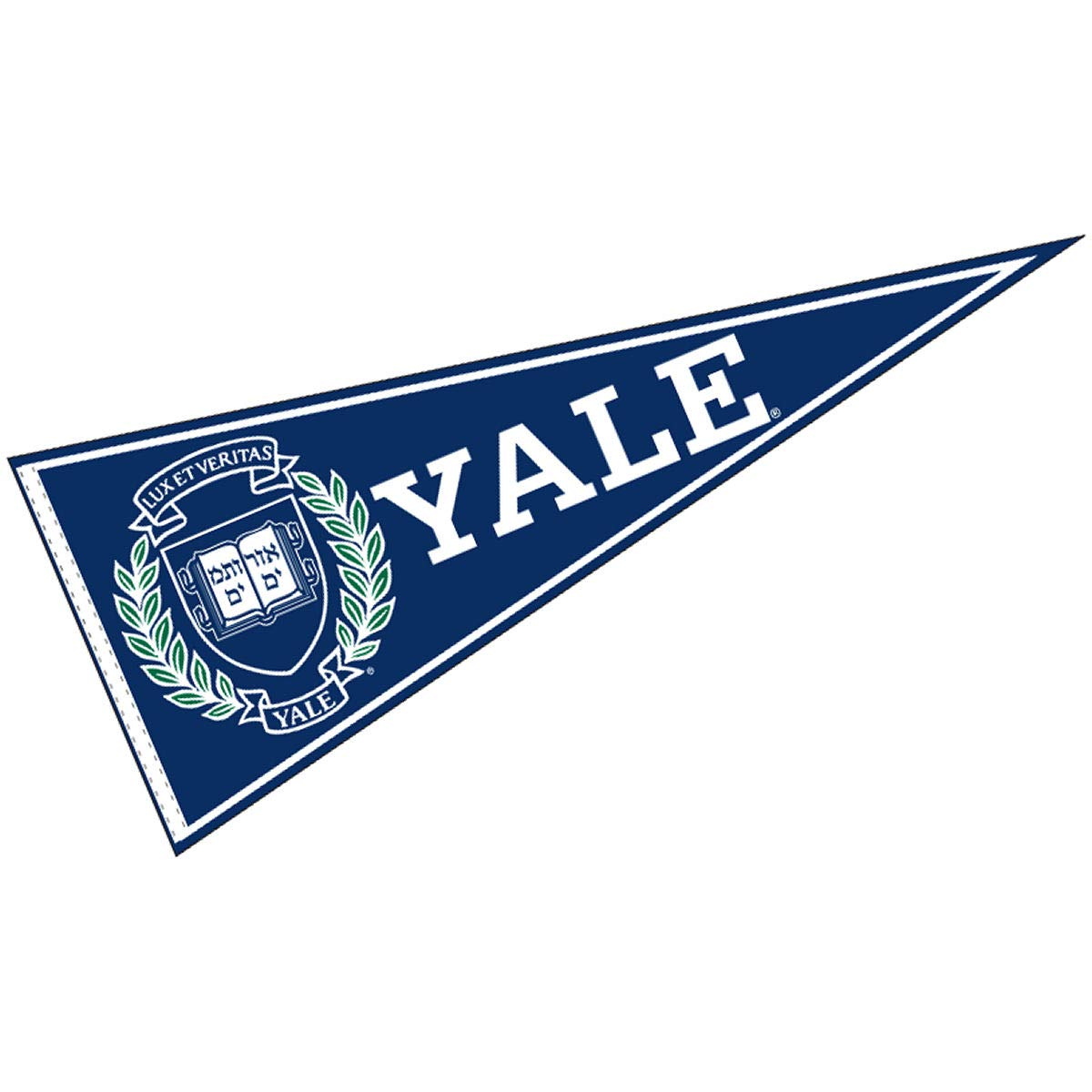 College Flags & Banners Co. Yale Pennant Full Size Felt