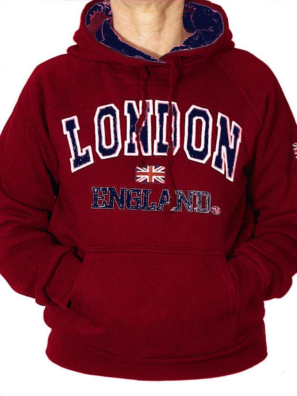Womens London Hoody Sweatshirts Ladies England Union Jack Tops Hoodies Super Quality