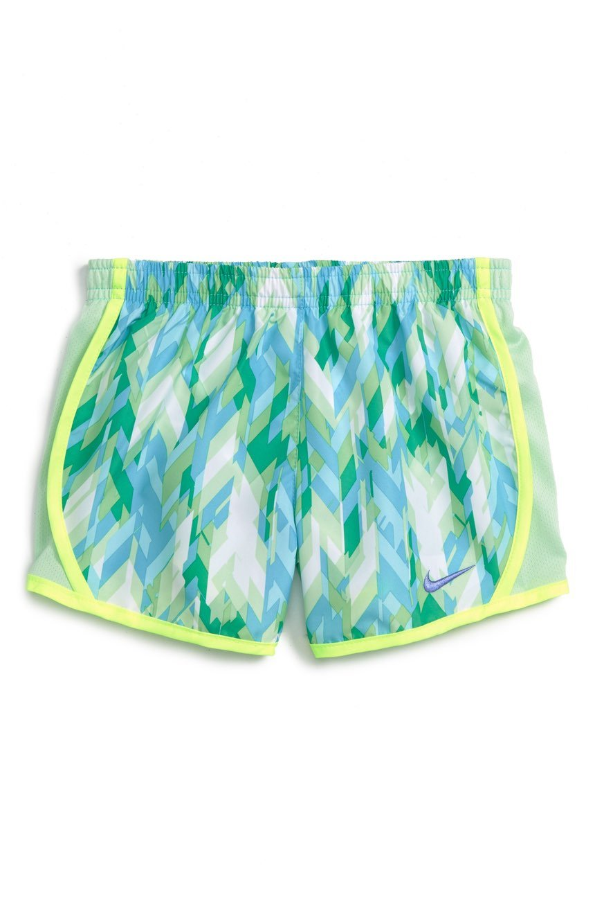 Nike Little Girls Tempo Shorts (2T Toddler, Vivid Sky (Y2L) / Volt/Purple) by Nike