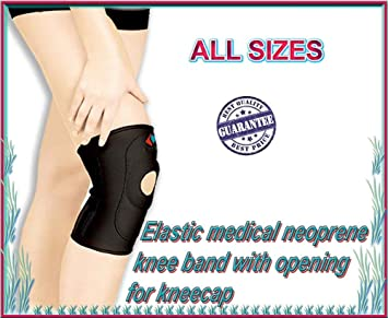 Amazoncom Elastic Medical Neoprene Knee Band With Opening For