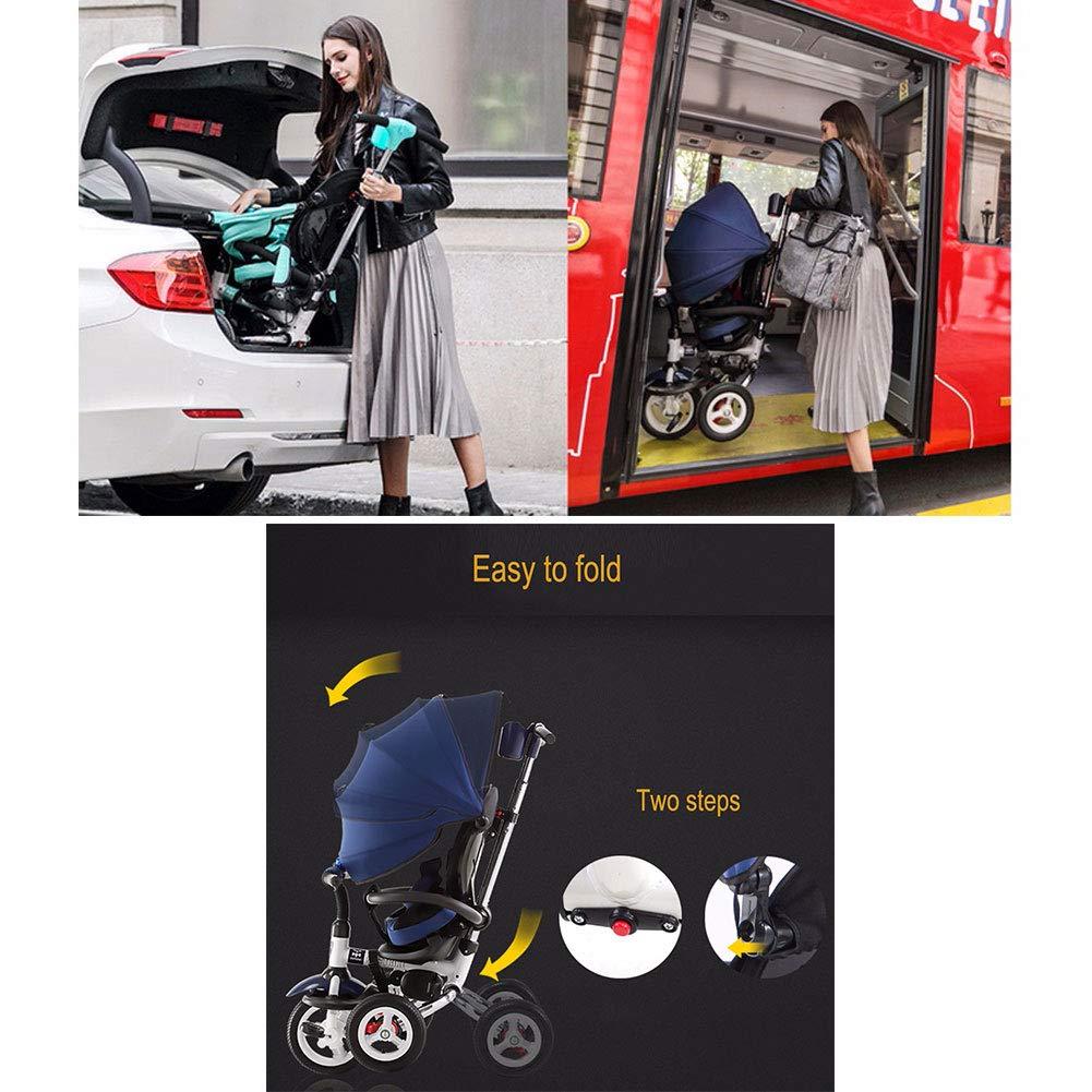JYY Triciclo de bebé 4 en 1 Cochecito Buggy de Triciclo de ...