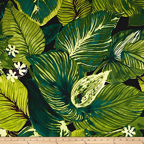 - Tommy Bahama Basketweave Lush Leaf Fabric by The Yard, Evening Sky