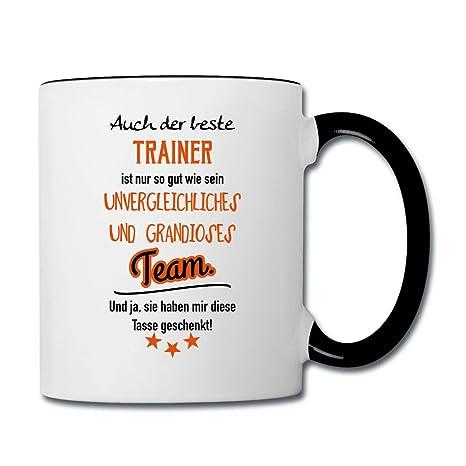 Bester Trainer Grandioses Team Spaß Spruch Tasse Zweifarbig Weißschwarz