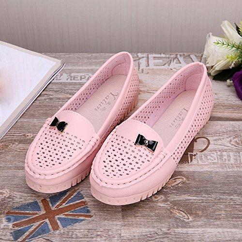 Art Sommer Schuhe beiläufige Schuhe und flache Rosa Ausschnitt Hunpta Weisefrauen beiläufige flache 51wHqwf