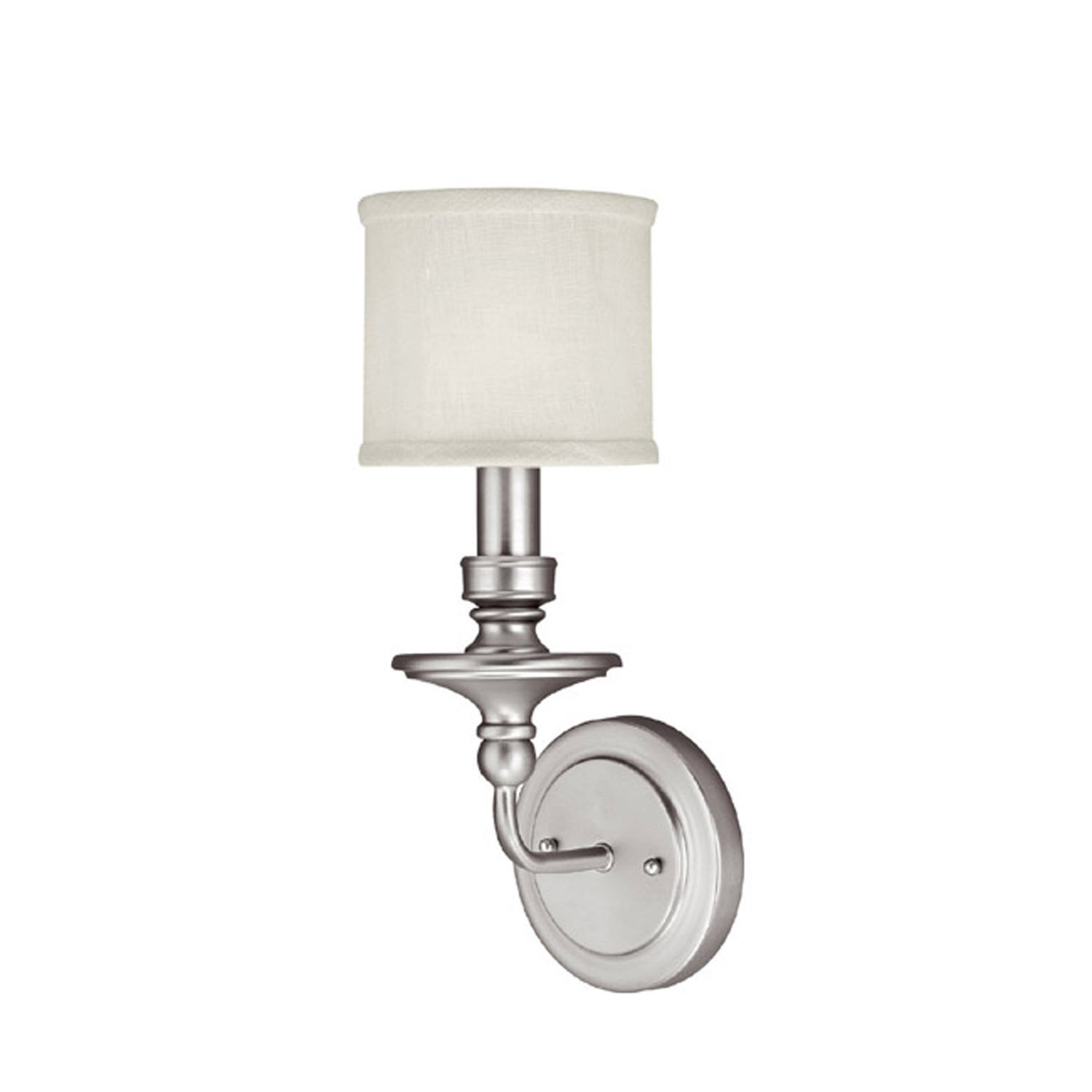 Capital Lighting 1231PN 451 Wall Sconce With White Fabric Shades Polished Nickel Finish