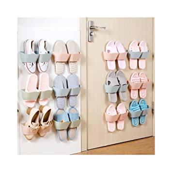 Lovely Huluwa Wall Mounted Shoes Rack, Creative Plastic Shoes Shelf Holder, Sticky Shoe  Storage Organizer