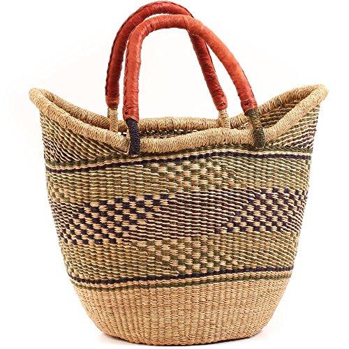 Basket Weaver Tote (Fair Trade Ghana Bolga African Yikene Tote 15-17