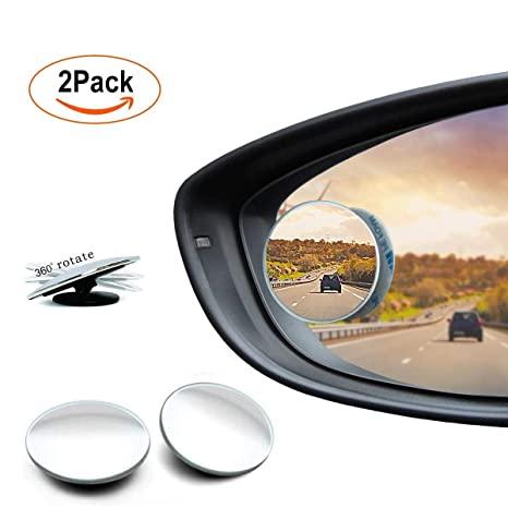 """2/"""" Round Car Blind Spot Rear View Mirrors Wide Angle Convex Rearview Mirror"""