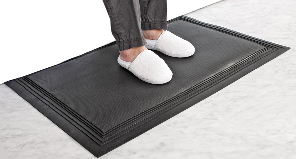 Nonslip Replacement Floor Mat for an Alarm System, Blue