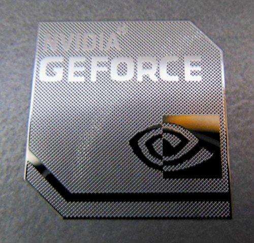 NVIDIA GEFORCE Polished Metal Sticker 18 x 18mm [828]