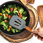 Silicone Cooking Utensils Set, 8 Piece Kitchen Utensil Set with Natural Acacia Wooden Handles, BPA Free Silicone Kitchen Cooking Utensils, Safe Cooking Tools for Non-stick Cookware, Best Holiday Gift 12 COMPLETE SET OF 8 COOKING UTENSILS: Are you looking for the Best Utensil Set for your cooking needs? Professional or home cook, our Non-stick Utensils gives you all the cooking tools needed to complement your kitchen! ELLO HOME Cooking Set includes 1 Silicone Serving Spoon, 1 Slotted Spoon, 1 Slotted Silicone Spatula, 1 Silicone Tongs, 1 Spaghetti Server, 1 Soup Ladle, 1 Pastry Brush, and 1 Silicone Spoon Rest to keep your stove and counters clean while cooking your meals. PREMIUM QUALITY: Are you looking for High-End Stylish Cooking Utensils to make tasty meals for your family? ELLO HOME offers you this much more! We are passionate about quality + simplicity. Careful thought was used to craft our beautiful rustic cooking set assuring safety and style. Our premium quality kitchen tools feature silicone heads that won't scratch pan surfaces, which makes them versatile for all types of cookware, keeping your non-stick pans in perfect condition. HIGH FOOD GRADE SILICONE: Silicone is the ideal alternative to harsh stainless steel utensils and bamboo utensils that can scrape and damage your non-stick pots and pans. Avoid those harmful plastic and nylon utensils that leak harmful chemicals into your food. Our Durable BPA Free, Food Grade Silicone Cooking Set is heat-resistant up to 464°F, so you can trust our cooking tools will not melt while cooking.