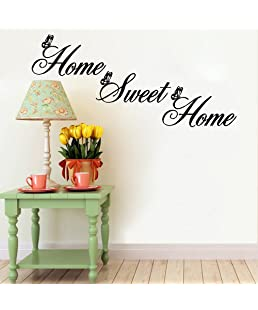 Home Sweet Home Decals Wall Stickers Living Room,Elevin(TM) Wall Decals Stickers Removable Waterproof Self Adhesive Paper Mural Wall Art Wallpaper Home Room Decor