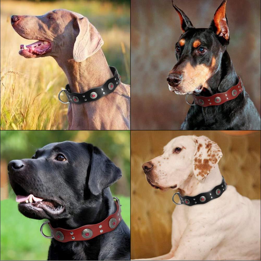 MAOBANG Collar Collar para Perros Duradero Marrón Rojizo Negro ...