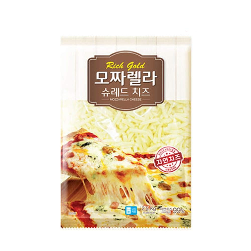 Rich Gold Shredded Mozzarella Cheese 2.5kg