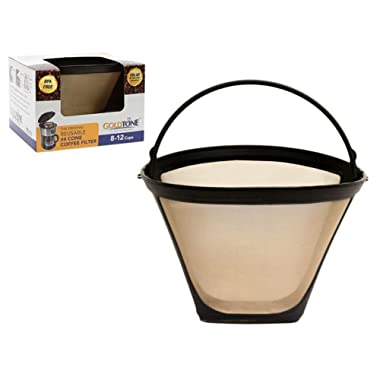 GoldTone Brand Reusable No.4 Cone replaces your Ninja Coffee Filter for Ninja Coffee Bar Brewer - BPA Free - Made in USA