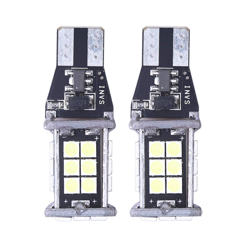 921 912 W16W 3030 24-EX Chipsets LED Bulbs 1550 Lumens Extremely Bright Error Free for Backup Reverse Lights, Xenon White Anxingo