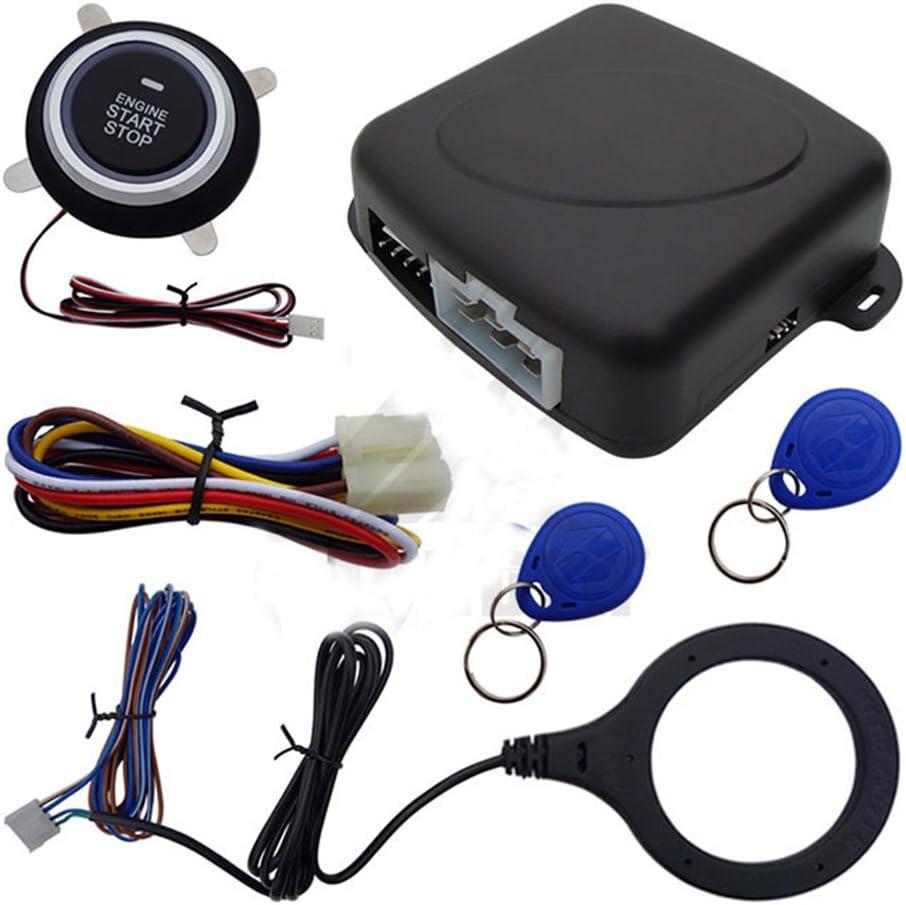 Obest Niu 12 V Auto Motor Start Stop Push Button Switch Zündung Starter Kit Mit Rfid Safe Lock Blau Licht Auto