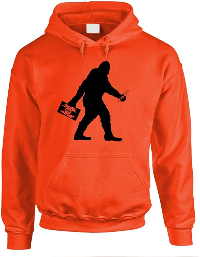 The Goozler Sasquatch Bigfoot with Beer Funny Party Mens Pullover Hoodie