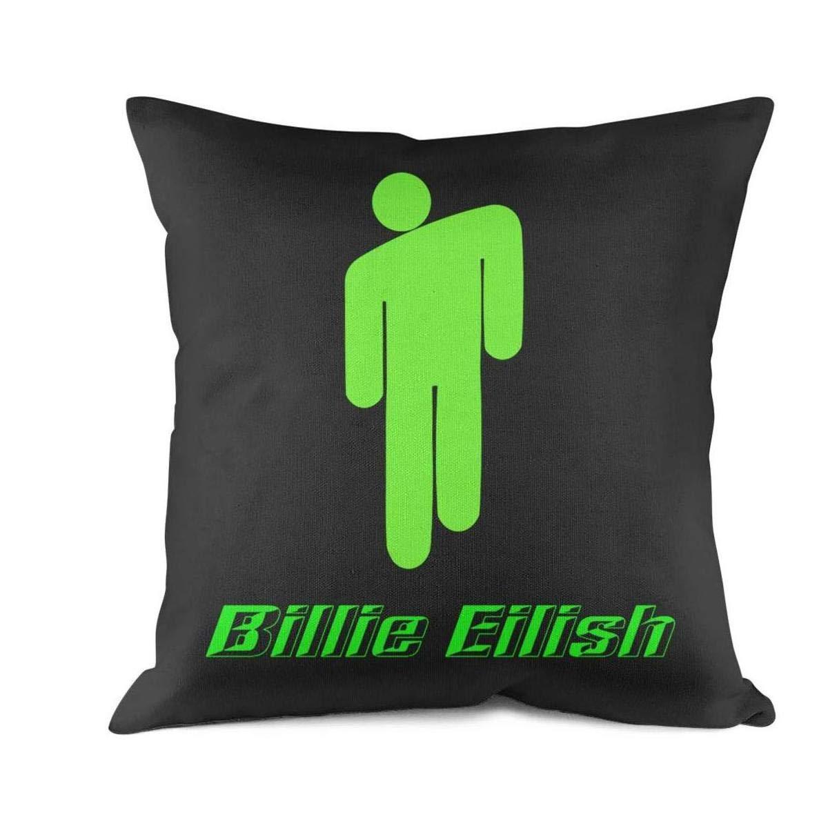 Sofa Cushion Pillowcases HGT-YUS 18X18Inch Home Decor Design Square Cotton Cushion Throw Pillow Covers Billie-Eilish