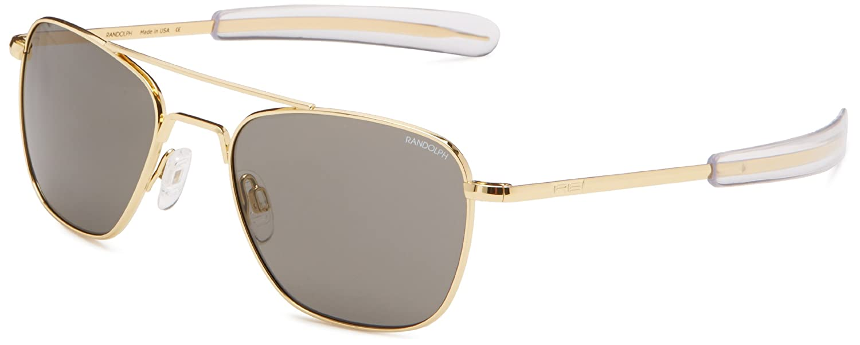 ffd982eb0606 Randolph Engineering Aviator Gold Plated Bayonet 52mm Gray Sunglasses   Amazon.co.uk  Clothing