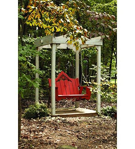 Uwharrie Chair Co V052-30-B.T. Blue-Dist-Pine Veranda Swing, B.T. (Uwharrie Swing)