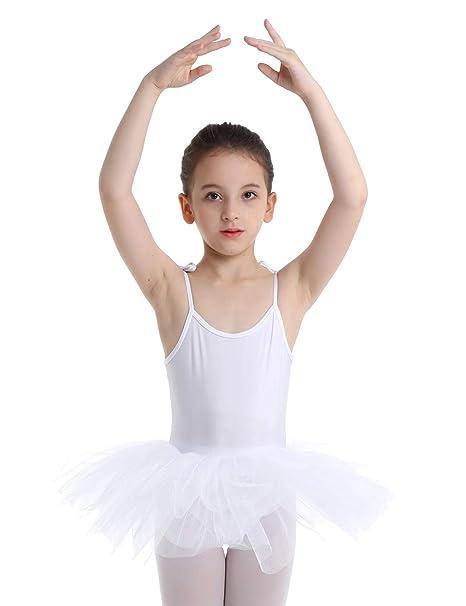 YiZYiF Vestido Danza Niñas Maillot Tutú Ballet con Falda ...