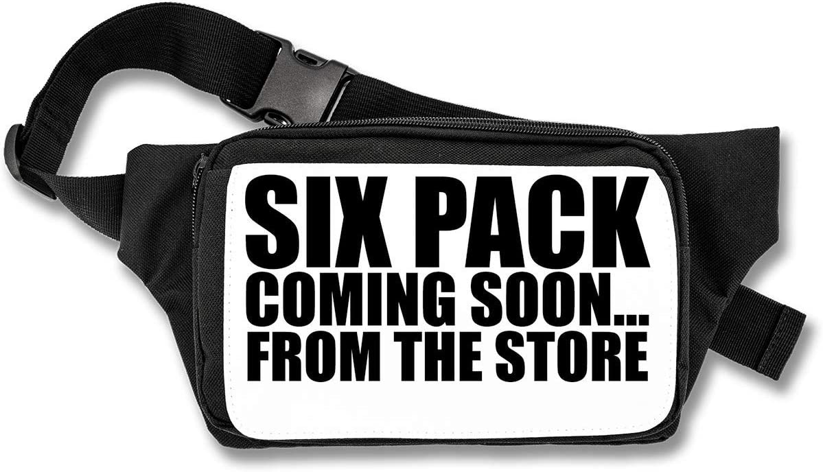 Six Pack Coming Soon from The Store Funny Black Cangurera: Amazon ...