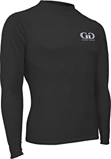 product image for Men's and Women's Athletic Form Fit, Long Sleeve Mock Neck Shirt-for Track, Volleyball, Soccer, Football, Underwear, and Outdoor Sports Black