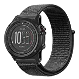 Fintie Band for Garmin Fenix 5X Plus/Fenix 3 HR Watch, Nylon Sport Loop Replacement Strap Bands with Adjustable Closure for Garmin Fenix 3/3 HR/5X/5X Plus Smartwatch, Black For Sale