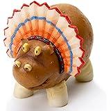 Enesco Home Grown 4017531 Thanksgiving Potato Hippo Indian Collectible Figurine, Multicolor, 3.4 inches