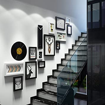 Cadres photo Photo Mur Escalier Décoratif Peinture Arrière-Plan Mur ...