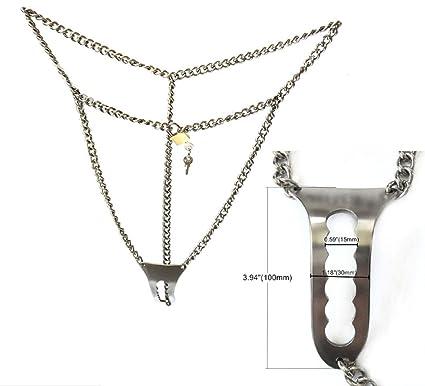Ropa Interior Femenina Invisible Doble Y Tipo De Mercancías De Acero Inoxidable Cinturón De Castidad Femenina