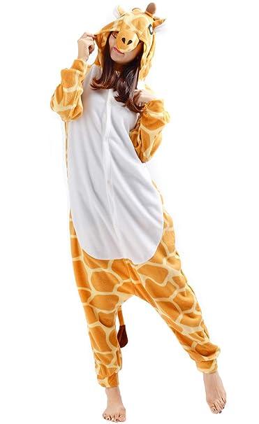 Unisex Animal Pijama Ropa de Dormir Cosplay Kigurumi Onesie Jirafa Disfraz para Adulto Entre 1, 40 y 1, 87 m: Amazon.es: Ropa y accesorios
