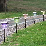 Led Solar Exterior Light Garden 24x Outdoor Stainless Steel Color Changing Lawn Path Way