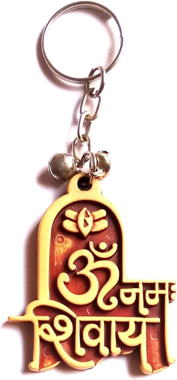 Key Holder Keychain DevDeep Hand Carved Handicraft Hindu Lord Mahadev Shiva OM Namah SHIVAY Key Ring,Keychain Tessael