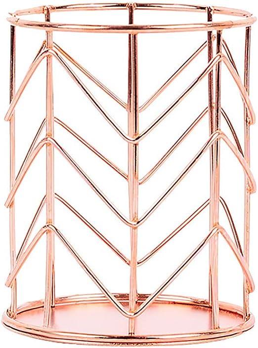 Iron wire Makeup Brush Chopsticks Storage Bucket Pencil Holder Desktop Organizer