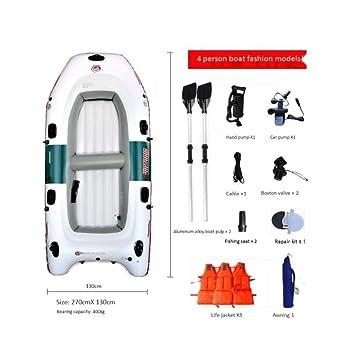 Juego de Kayak Inflable for 4 Personas con remos de plástico y ...