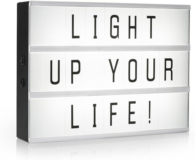 Light de caja/bombilla Buzón A3 con 85 letras Decoración de luz de ...