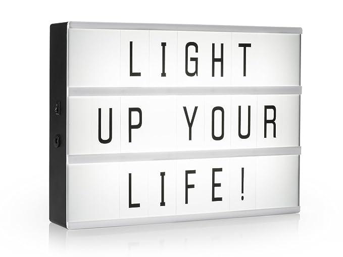 Light de caja/bombilla Buzón A3 con 85 letras Decoración de ...