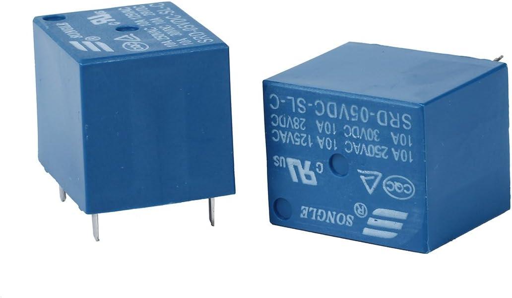 Toolmore 5 piezas 5V DC Rele de potencia Rele de potencia de tipo de circuito impreso