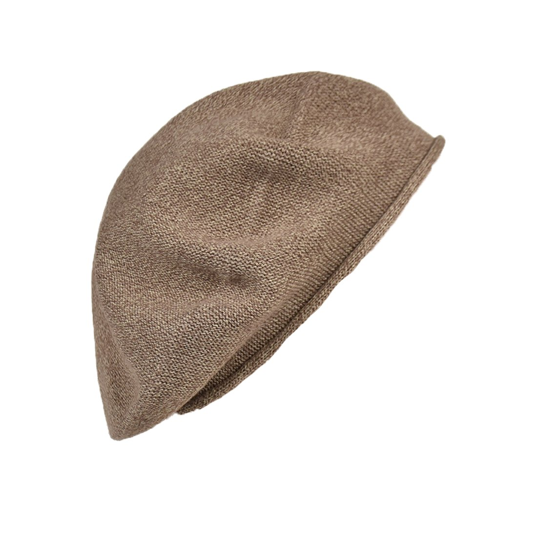 Landana Headscarves Melange Beret for Women 100% Cotton Solid - Beige