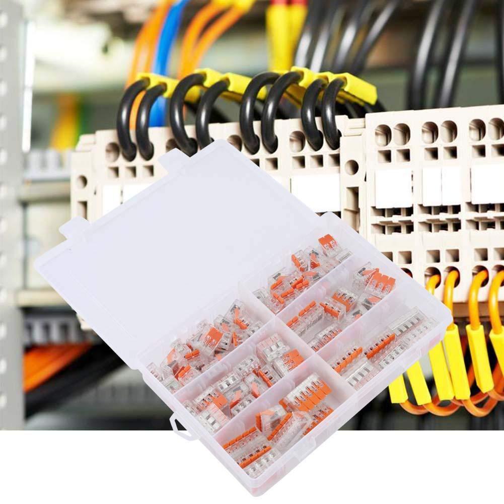 Zerone 75pcs PCT-412//413//415 Bornier /à ressort C/âble C/âble /Électrique Connecteur Rapide 2//3//5 Mani/ère