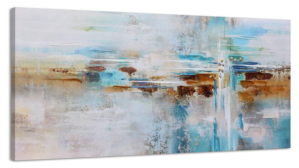 Large Abstract Painting Canvas Wall Art For Living Room Gray Themed Modern Hand Painted Decoration Artwork Hang In Bedroom Office Home Decor 30x60