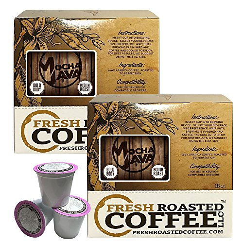 Mocha Java Single Serve Coffee Pods  36 Capsules For Keurig K Cup Brewers  Fresh Roasted Coffee Llc   36 Count