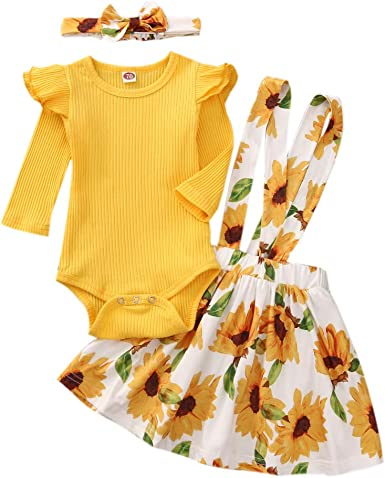 Floral Skirt 2Pcs Autumn Outfits Set TUEMOS Toddler Baby Girl Sweet Clothes Long Sleeve Top
