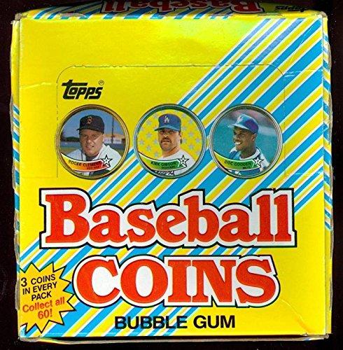 1989 Topps Baseball Coin 34 Wax Pack Box Set Coins