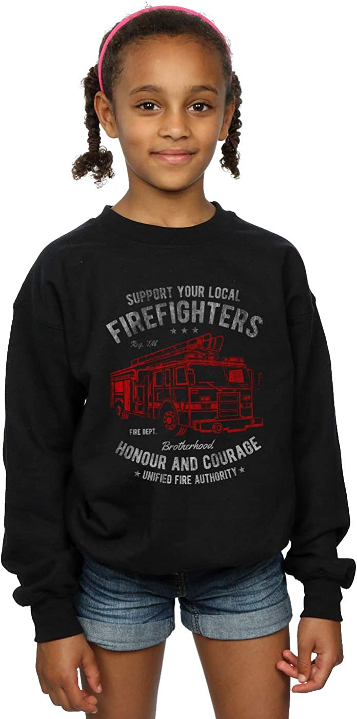 Absolute Cult Drewbacca Girls Support Firefighters Sweatshirt